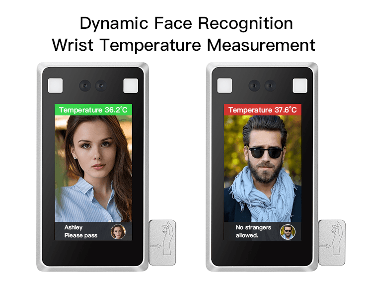 Face Recognition Wrist Temperature Measurement
