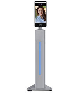 Column Type Face Recognition + IC Card Attendance And Access Control
