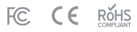 FCC, CE, RoHS