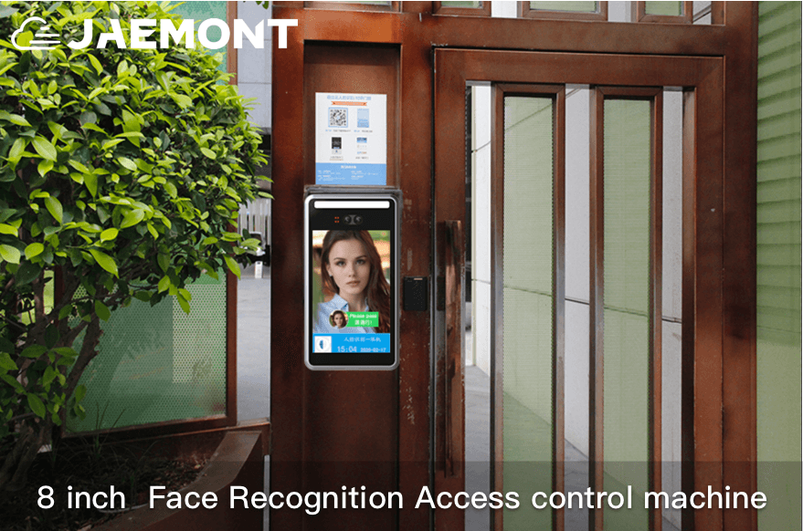 JAEMONT New 8 inch Two Cameras Real Time Human Body Detection Face Recognition Access control machine