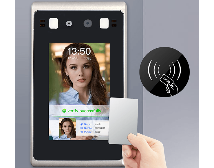 4.3 inch touch screen face recognition access control machine