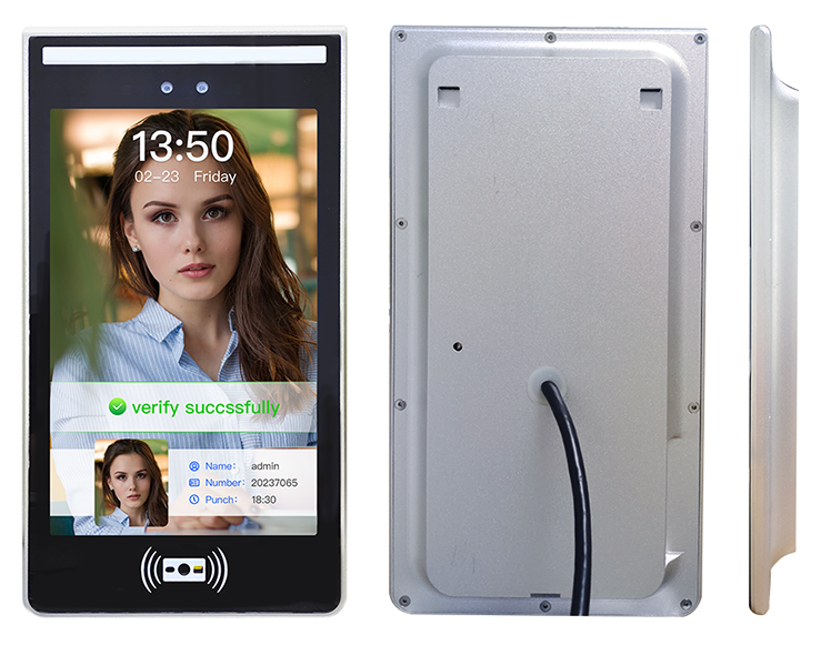 10.1 inch touch screen face recognition access control machine