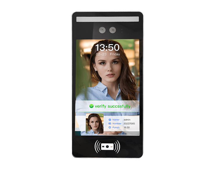 8 inch Swipe QR Code Card face recognition access control