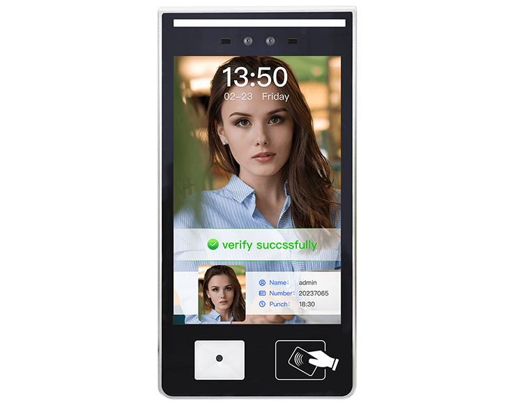 10.1 inch touch screen face recognition access control system