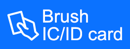 Brush IC/ID card