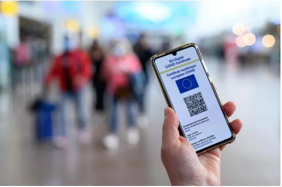 EUDCC QR Code Scanner Access Control Smart Pass System Temperature Measurement