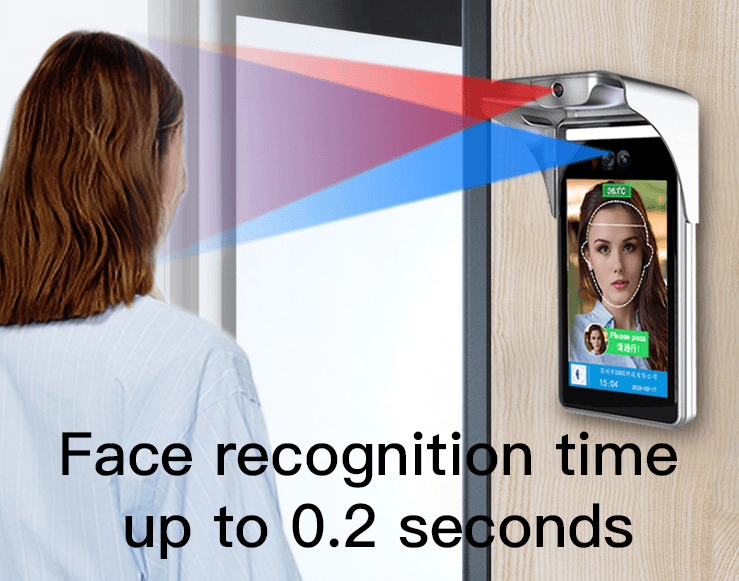 Gate Type 8-Inch Face Recognition Thermometer
