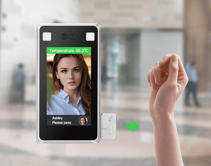 Desktop Face Recognition Wrist Temperature Measurement